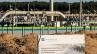 The Nord Stream 2 gas line landfall facility in Lubmin, north eastern Germany, on September 7, 2020. - German Chancellor Angela…
