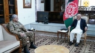 Afghanistan's President Ashraf Ghani meets with Pakistan's Army Chief of Staff General Qamar Javed Bajwa, in Kabul, Afghanistan…