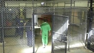 FILE - A death row inmate enters cellblock at Lieber Correctional Institution, Ridgeville, S.C., Feb. 19, 2003.