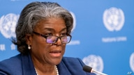 FILE - U.S. Ambassador to the United Nations, Linda Thomas-Greenfield speaks to reporters.