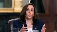 Vice President Kamala Harris speaks during a meeting with Guatemalan justice sector leaders.