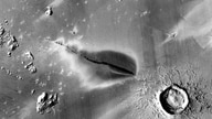 Recent explosive volcanic deposit around a fissure of the Cerberus Fossae system. (NASA/JPL/MSSS/The Murray Lab)