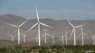 FILE - Power-generating Siemens 2.37 megawatt (MW) wind turbines are seen at the Ocotillo Wind Energy Facility in California, May 29, 2020.