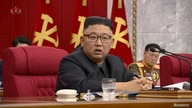 North Korean Leader Kim Jong Un speaks at plenary meeting of 8th central committee of the Workers' Party of Korea