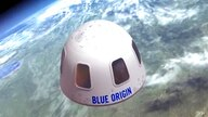 FILE - This undated file illustration provided by Blue Origin shows the capsule that the company aims to take tourists into…