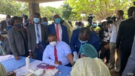 Vice President Constantino Chiwenga - who doubles as Zimbabwe's health minister (Photo: Harare, February 2021) – said complacency had resulted in a recent spike in cases of the coronavirus responsible for the COVID-19 disease ((ColumbusMavhunga/VOA))