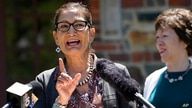 Interior Secretary Deb Haaland speaks to reporters during a visit to Acadia National Park, June 18, 2021, in Winter Harbor, Maine.