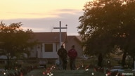 FILE PHOTO: Recently installed solar lights mark burial sites on Cowessess First Nation, where a search had found 751 unmarked…