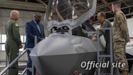 Secretary of Defense Lloyd Austin is briefed on the U.S. Air Force F-35 Lightning II assigned to 354th Fighter Wing, Eielson Air Force Base, Alaska, July 24, 2021.