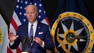President Joe Biden speaks during a visit to the Office of the Director of National Intelligence in McLean, Va., Tuesday, July…