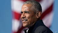 FILE - In this Nov. 2, 2020 file photo, former President Barack Obama speaks at a rally as he campaigns for Democratic…