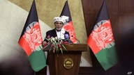 Afghan President Ashraf Ghani speaks at the extraordinary meeting of the Parliament in Kabul, Aug. 2, 2021.