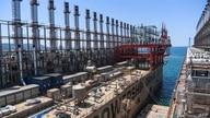 A picture taken on June 16, 2020 shows Raif bey powership docked in a shipyard of altinova district, in Yalova. - Four years…