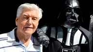 (FILES) This file photo taken on April 27, 2013 during a Star Wars convention in Cusset, central France, shows David Prowse,…