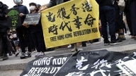 NEW YORK, NEW YORK - JUNE 12: Hong Kongers gather during a rally at Union Square to support Hong Kong June 12, 2021 in New York…