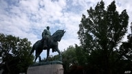 CHARLOTTESVILLE, VIRGINIA - JULY 09: A statue of Confederate Gen. Robert E. Lee is shown in Market Street Park July 9, 2021 in…