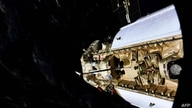 This handout photograph taken and released by the Russian Space Agency Roscosmos on July 29, 2021, shows the Russian…