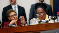 Rep. Sheila Jackson Lee, D-Texas, right, speaks during a hearing about reparation for the descendants of slaves before the House Judiciary Subcommittee on the Constitution, Civil Rights and Civil Liberties, at the Capitol in Washington, Wednesday,…