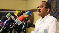 Sudanese Health Minister Akram Ali Al-Tom speaks during a press conference in Khartoum, Sudan, Friday, March. 13, 2020. Sudan…