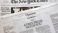 "An editorial titled ""A Free Press Needs You"" is published in The New York Times, Thursday, Aug. 16, 2018, in New York…"