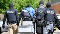 Special police investigates the Hezbollah linked Imam Mahdi center in Muenster, western Germany, Thursday, April 30, 2020…