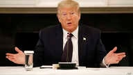 President Donald Trump speaks during a roundtable discussion with law enforcement officials, Monday, June 8, 2020, at the White…