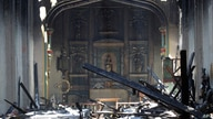 The interior of the San Gabriel Mission is seen in the aftermath of a morning fire, Saturday, July 11, 2020, in San Gabriel,…
