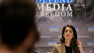 Attorney Amal Clooney participates in a panel discussion on media freedom at United Nations headquarters Wednesday, Sept. 25,…