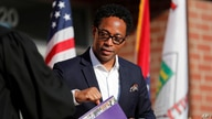 St. Louis County Prosecuting Attorney Wesley Bell is seen during an inauguration ceremony for Mayor Ella Jones Wednesday, June…