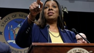 FILE- In this Nov. 19, 2019 file photo, New York State Attorney General Letitia James speaks during a news conference at her…