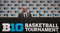 Big Ten commissioner Kevin Warren addresses the media in Indianapolis, Thursday, March 12, 2020, after it was announced that…