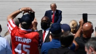 President Donald Trump speaks during an event at Burke Lakefront Airport in Cleveland, Ohio, Thursday, Aug. 6, 2020. (AP Photo…
