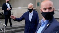 Democratic presidential candidate and former Vice President Joe Biden departs after voting early in Delaware's state primary…