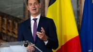 Belgian Minister of Cooperation Development and Finance, Alexander De Croo speaks during a media conference at the Egmont…