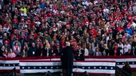 President Donald Trump speaks during a campaign rally at Pickaway Agricultural and Event Center, Saturday, Oct. 24, 2020, in…