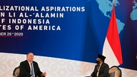 U.S. Secretary of State Mike Pompeo, left, and General Secretary of Nahdlatul Ulama Yahya Cholil Staquf hold a discussion at…