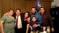 This December 2015 family photo shows Jose Pereira, second left, one of the Houston-based Citgo oil executives convicted and…