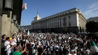 Protesters surrounded the new National Assembly building, demanding government resignation in Sofia on Wednesday, Sept. 2, 2020…