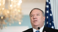 Secretary of State Mike Pompeo speaks to the media prior to meeting with Kuwaiti Foreign Minister Sheikh Ahmad Nasser Al…