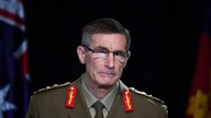 Chief of the Australian Defence Force Gen. Angus Campbell delivers the findings from the Inspector-General of the Australian…