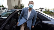 In this Thursday, Oct. 15, 2020 photo, Jimmy Lai arrives at a court in Hong Kong. Jimmy Lai, the pro-democracy Hong Kong media…