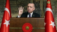 Turkey's President Recep Tayyip Erdogan speaks during a meeting, in Istanbul, Friday, Jan. 15, 2021. Erdogan indicated on…