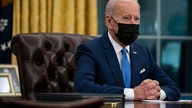 President Joe Biden delivers remarks on immigration, in the Oval Office of the White House, Tuesday, Feb. 2, 2021, in…