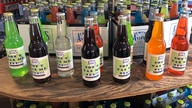 In this Friday, March 29, 2019, photo, bottles of soda at Avery's Beverages are on display at Avery's Beverages in New Britain,…