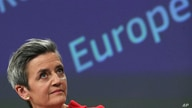 European Commission Vice President Margrethe Vestager speaks during a media conference on the proposal for a Regulation to…