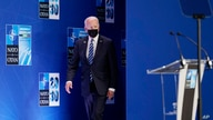 President Joe Biden walks out to speak during a news conference at the NATO summit at NATO headquarters in Brussels, Monday,…