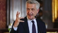 Filippo Grandi, U.N. High Commissioner for Refugees, speaks during a joint statement with President Ivan Duque in Bogota,…