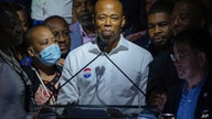 Democratic mayoral candidate Eric Adams speaks at his primary election night party Tuesday, June 22, 2021, in New York. (AP…