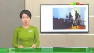 In this image from Myawaddy TV, a photograph of deposed Myanmar leader Aung San Suu Kyi's court appearance was shown during a…