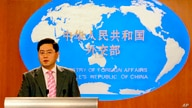 FILE - In tis  July 5, 2007, file photo, then Chinese Foreign Ministry spokesman Qin Gang speaks at a media briefing in Beijing…